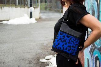 Pistoleras-Riñonera Leopardo Azul