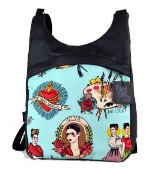 Bolso-Mochila Bikoitza Frida Kahlo