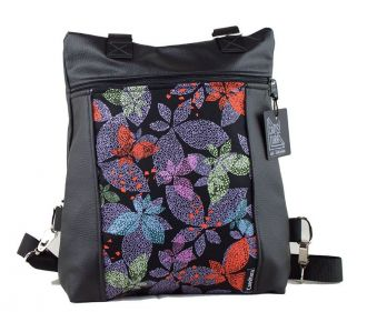 Bolso-mochila polipiel azul
