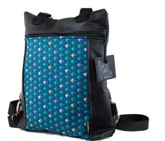 Bolso-mochila polipiel azules