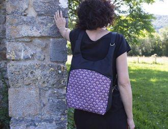 Bolso-Mochila Euri Flor Morado