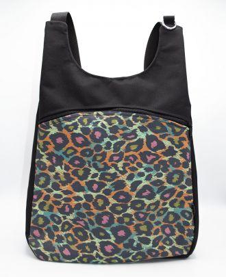 Bolso Mochila Euri Leopardo Colores